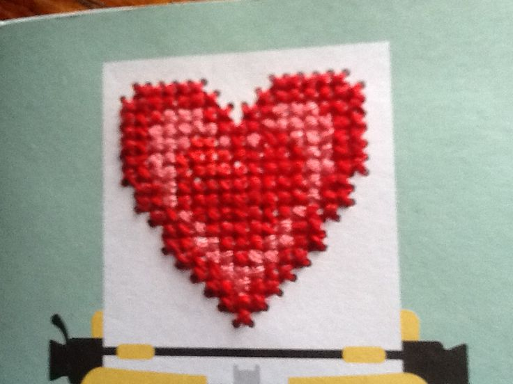I cross stitched this for my notebook which came with a cross stitching magazine!!!