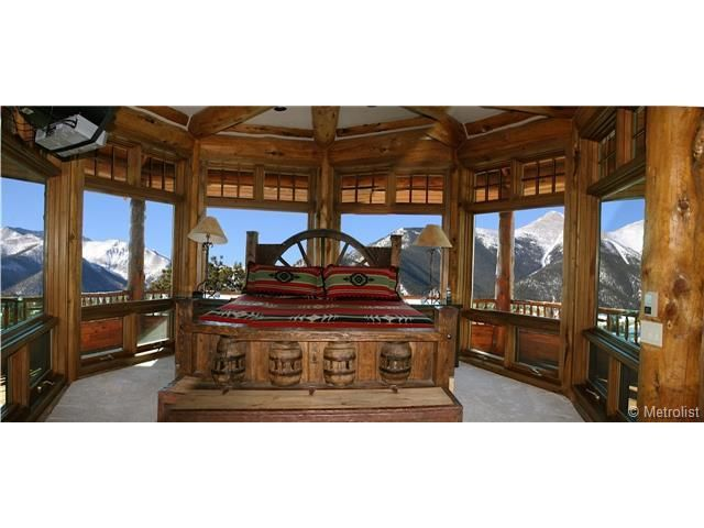 Master Bedroom Bed/View. | Log Homes :) | Pinterest