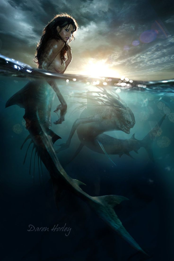 Mermaid, Daren Horley on ArtStation at http://www.artstation.com/artwork/mermaid-46a501d4-d328-499a-b8d2-13639823f72f