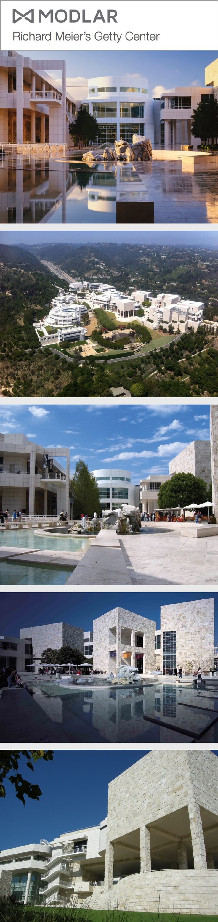 Richard Meier's Getty Center, LA, USA #Meier #Architecture modlar.com