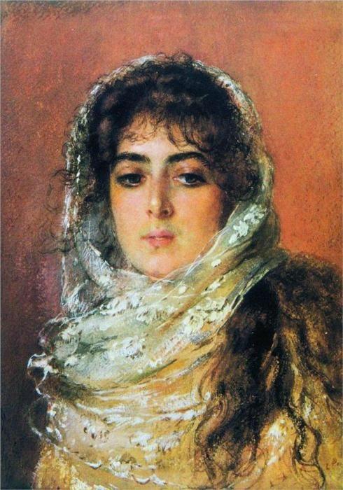 К.Маковский Портрет жены художника Ю.П.Маковской, 1887 (490x700, 69Kb)