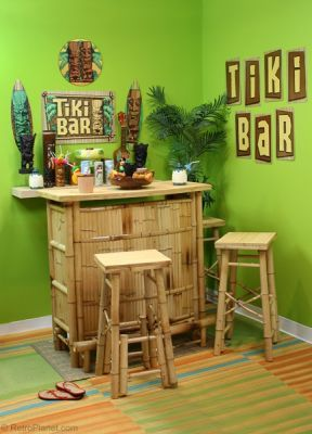 Retro Decorating Ideas Tiki Design Revival Tuesday Pinterest Bars Bar And