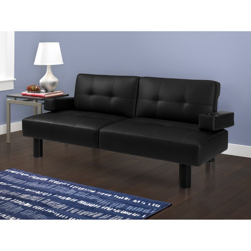 Sectional Sleeper Sofa Get the Mainstays Connectrix Black Faux Leather Futon at Walmart Save money