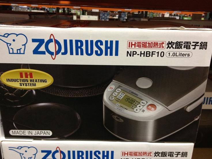 ZOJIRUSHI IH RICE COOKER 日本象印IH黑金剛電子鍋NP-HBF10,六人份,可煮糙米、什錦米、發芽米、糯米、稀飯,預約定時功能。現售$9939