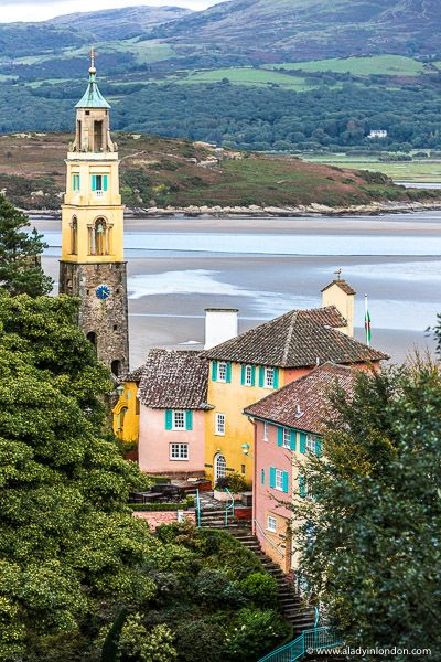 2 Days in Portmeirion, Wales - What to Do and See There's a lot to do in 2 days in Portmeirion. From exploring the colorful streets to walking the forest paths, this village in Wales is a whimsical treat. Beautiful Places To Visit, Cool Places To Visit, Great Places, Places To Travel, Travel Destinations, Wales Uk, North Wales, Innsbruck, The Places Youll Go