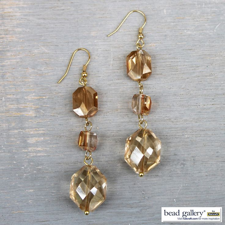 DIY Indian Summer earrings featuring Bead Gallery beads available at Michaels Stores #madewithmichaels