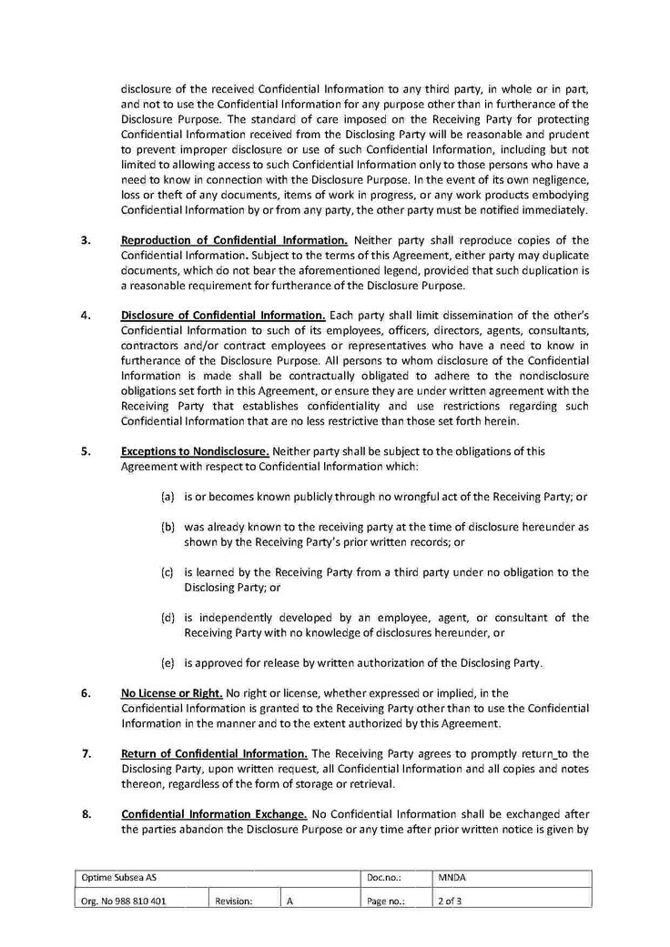 Download Non Disclosure Agreement Style 56 Template for