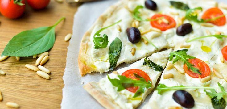 Hurtig pizza med blomkålscreme