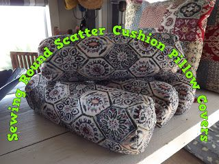 A Pretty Talent Blog: Sewing Round Scatter Cushion Pillowcases