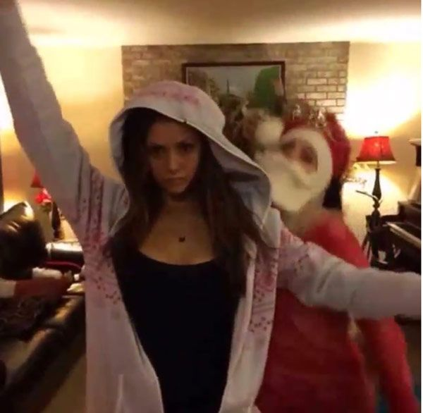 Nina Dobrev  Ex Derek Hough Have A Holiday Dance-Off %u2014�Watch