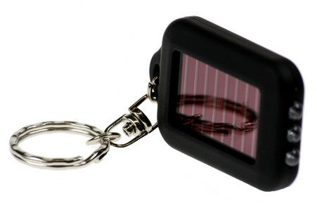 LED-lommelykt med solceller - Lommelykt i miniformat!