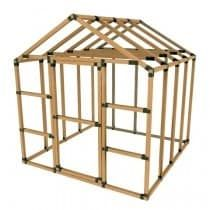 8X8 E-Z Frame Standard Greenhouse or Storage Shed Structures Kit (lumber not included) (Black) (Plastic)