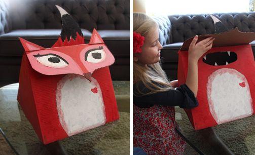 fantastic fox valentine box diy