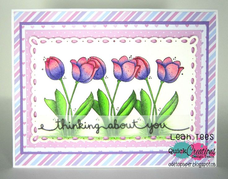 "Quick Creations Inspiration with Magnolia Stamps' ""Two Tulips"", August 2016, created by Leah Tees, odetopaper.blogspot.ca"