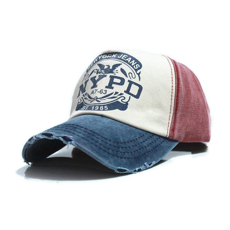 6 couleurs coton Vintage Snapback Cap réglable chapeau Unisexe Casquette de…