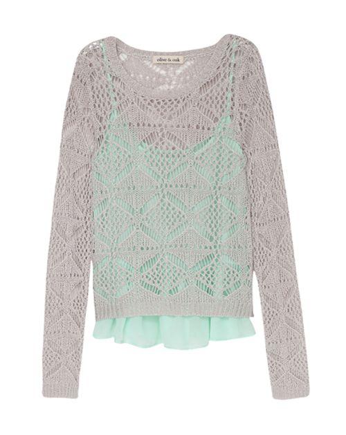 Crochet Sweater & Cami, Gotta love a 2-for-1!