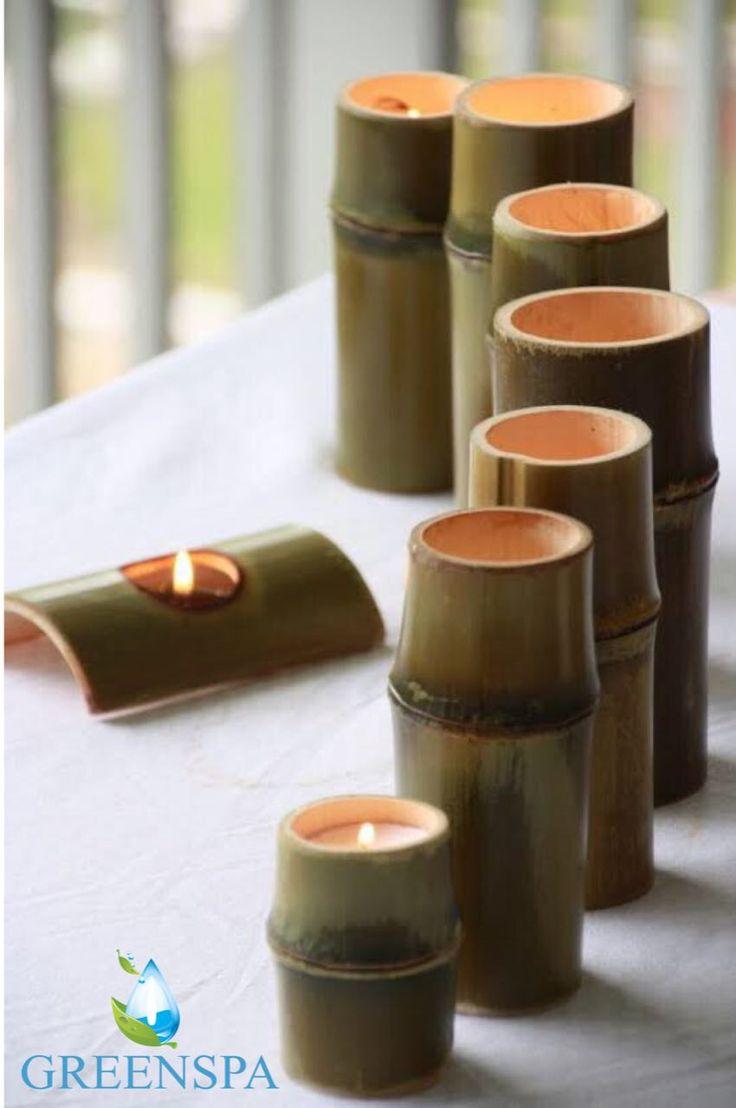 Bambu ve mum harika bir ikilidir. Evinizin bir köşesine bu ikiliyi eklemeye ne dersiniz ?