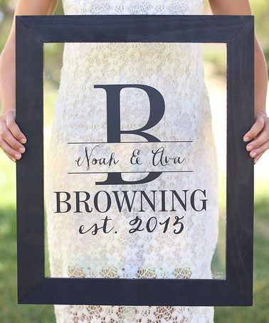 Loving this Newlywed Personalized Wall Sign on #zulily! #zulilyfinds