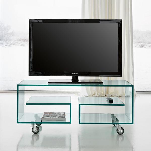 Tonelli Flo 1 Glass Tv Unit Living Room Furniture Ultra