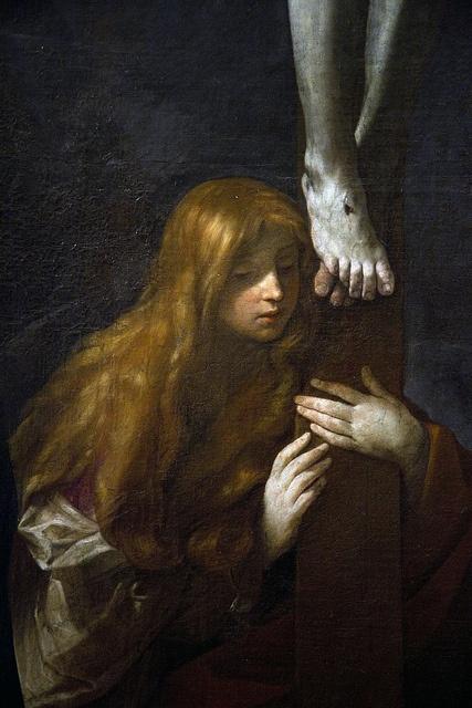 Guido Reni, Gesù Cristo Crocifisso, la Vergine Addolorata, Santa Maria Maddalena e San Giovanni (detail)