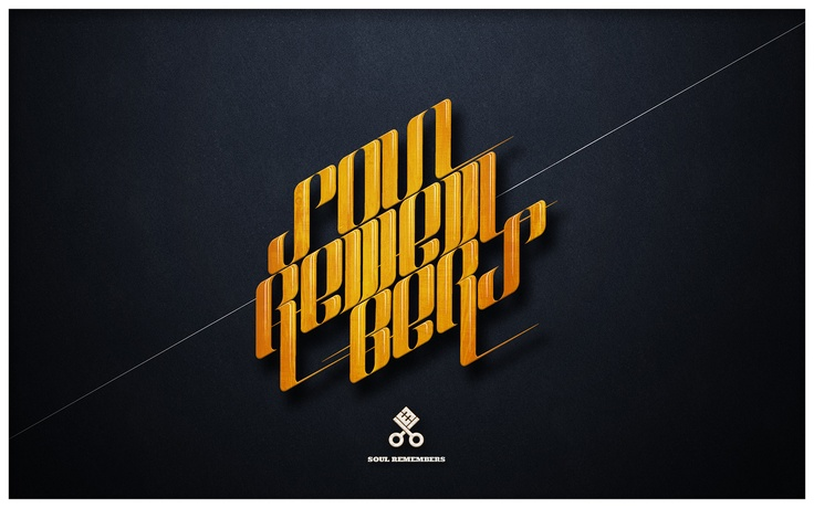 Soul Remembers: Design Inspiration, Design Ideas, Types Design, Graphics Design, Soul Remember, Inspiration Galleries, Slick Logos, Typography Inspiration, Web Typography
