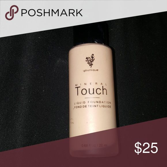 Younique Mineral Touch Foundation Shade: Organza, used once. Younique Makeup Foundation