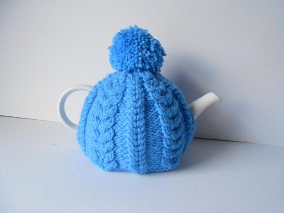 Tea Cosy Knitted Tea Cozy Gift for Mom or Dad handmade teapot