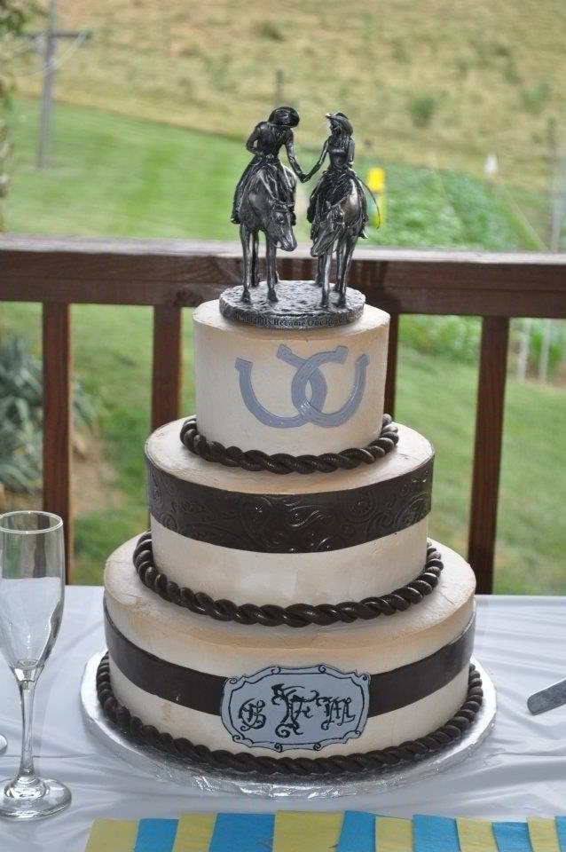 Western Theme Wedding Cake  Decorating Ideas in 2019