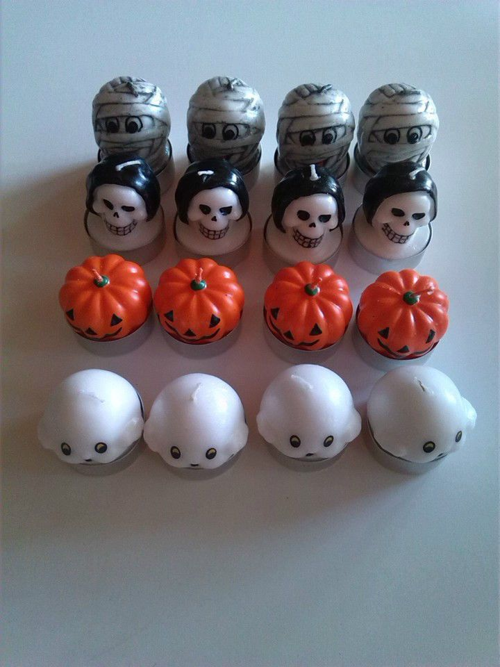 Halloween candele candle tealight candeline con soggetti fantasmi morte mummia zucca in confezione da 4pz #ecommerce #homebusiness #negozi #negozio #shopping #halloween #eventi #evento #festa #feste #party #parties #fantasma #fantasmi #morte #mummia #mummie #zucca #zucche #candela #candele #candelina #candeline #candle #candles #tealight #entrataliberashopping