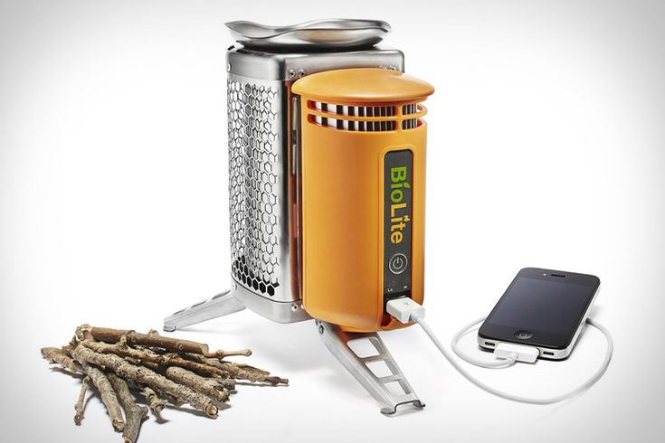 Biolite Portable Stove/Gadget Charger $130Wood Burning Stoves, Camps Stoves, Outdoor, Portable Stoves, Pine Cones, Biolite, Usb Hub, The Heat, Gadgets Chargers