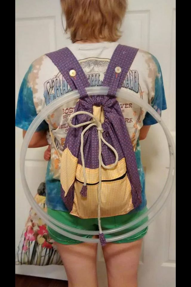 Hoop Backpack! Too cute. I love the little buttons.