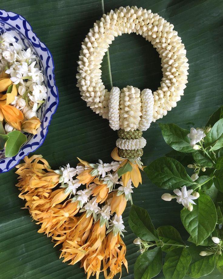 พวงมาลัยมะลิ: 160 Best พวงมาลัย, พานดอกไม้ ( Thai Garland) Images On