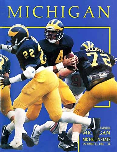 1986 Michigan vs. MSU game program