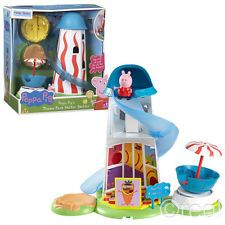 New Peppa Pig Theme Park Helter Skelter Fairground & Figure Playset Fun Official