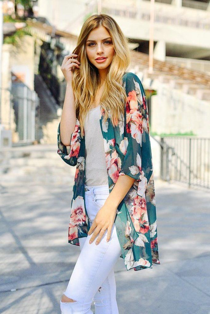 Details:Spring floral print open front chiffon cardigan with dolman sleeveContent + Care100% PolyesterMachine wash coldMade in U.S.A.Size + FitModel is...