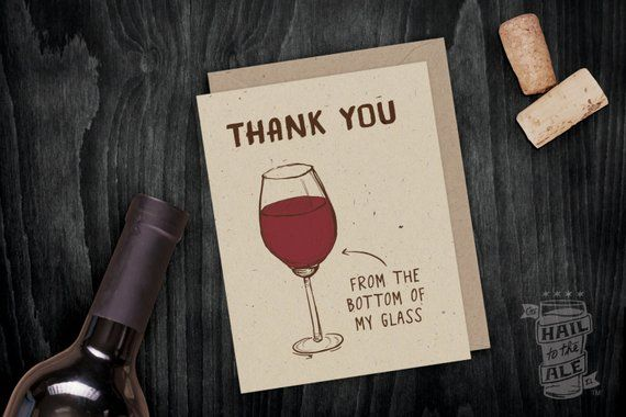 Personalised Word Art Print congratulations wine glass thank you birthday card