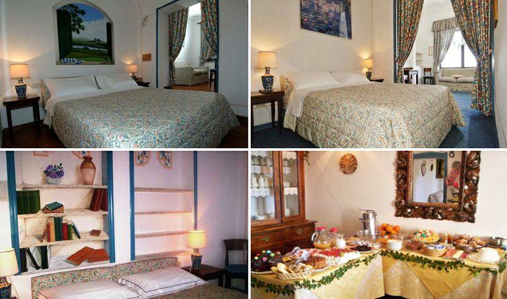 La camera singola con letto alla francese, la camera doppia o matrimoniale, la suite con terrazza e vista sulla valle...