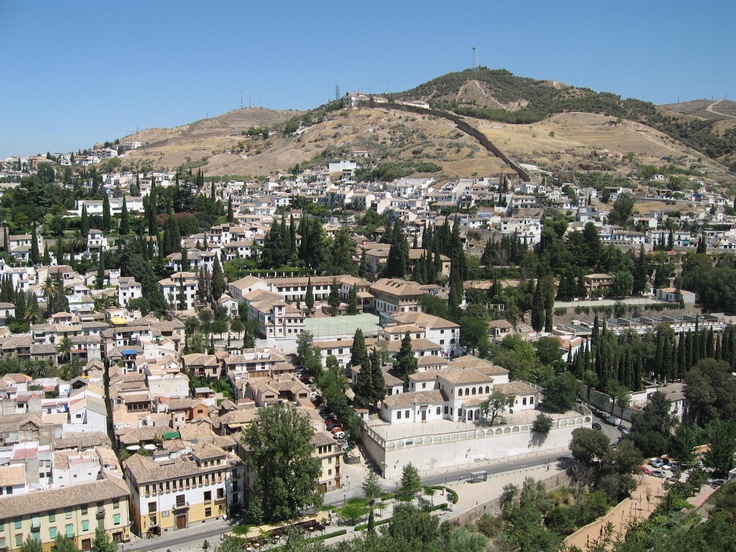 view of the Albaicin from the Alhambra, Granada