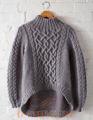 Пуловер «Rustic Trails» (Вязание спицами)