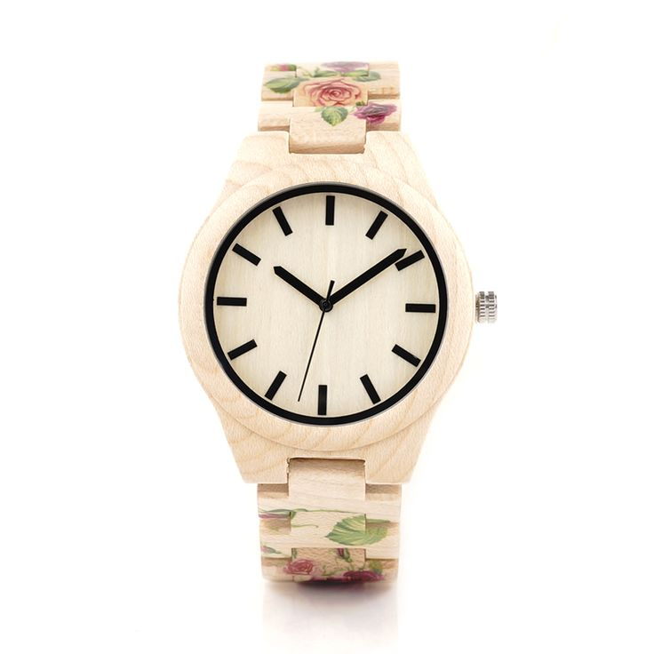Printing Flower Wooden Band Quartz Watches //Price: $58.55 & FREE Shipping //     #stone #trendy