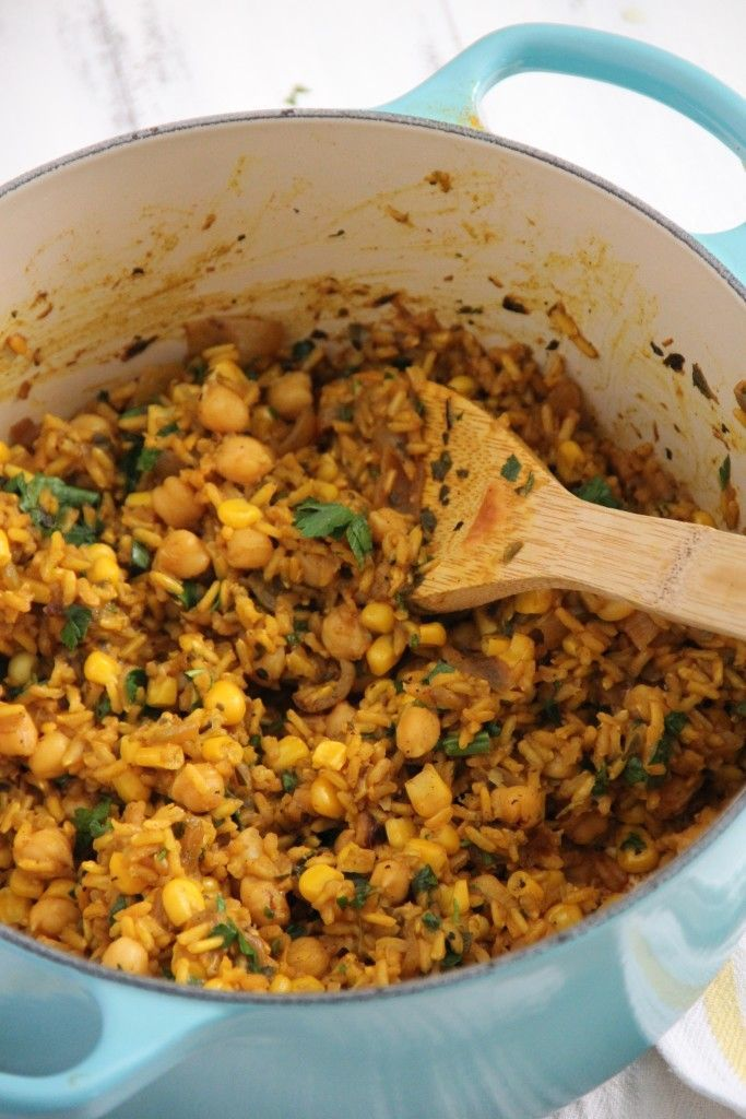 Zesty, vibrant, and nourishing! This one pot Brazilian Chickpeas and Rice is an easy weeknight option! I don't know if my fellow veggies can relate, but sometim