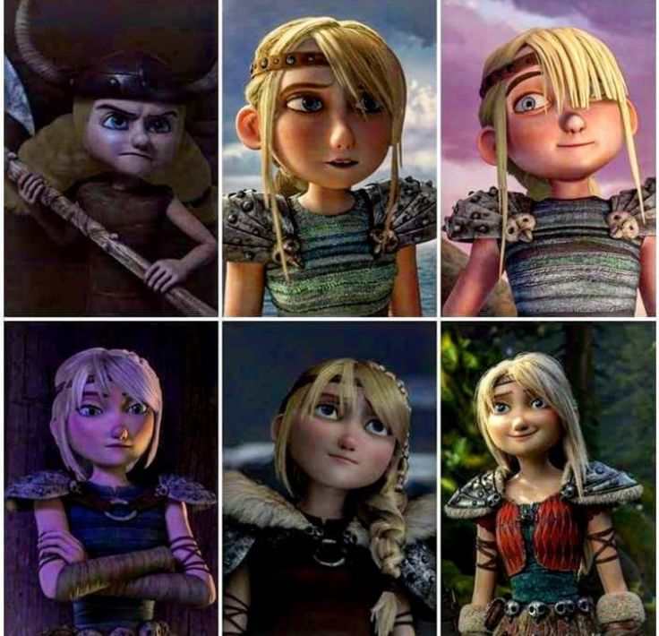 Astrid throughout the years