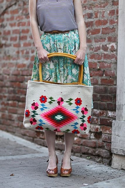 embroidered bag.