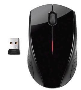 HP-X3000-Kabellose-Optische-Maus-Glaenzend-Schwarz
