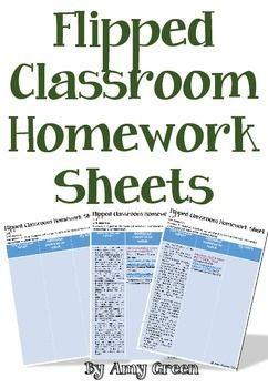 Flipped classroom Homework Sheets