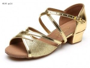 latin dance shoes professional #106 gold