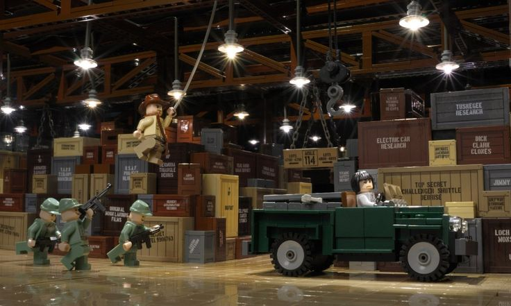 LEGO Indiana Jones Warehouse by Brian Williams. Read more: http://brickextra.com/2013/06/17/moc-of-the-week-lego-indiana-jones-warehouse/.
