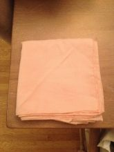 Peach / Coral napkins and tablecloths for sale