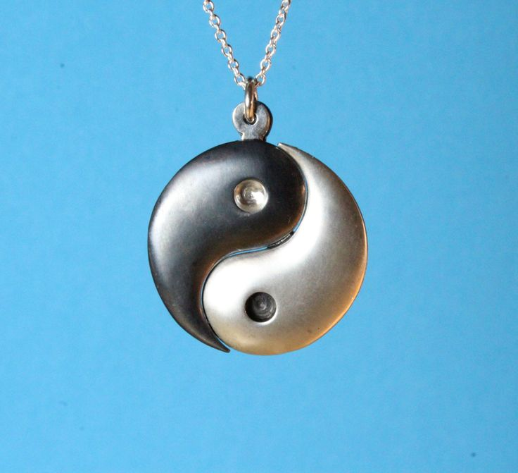 BLACKFRIDAY Yin Yang necklace 2 pieces jewelry pendant oxidized sterling silver hand carved yin yang sign unisex jewelry gift - $48.45 USD
