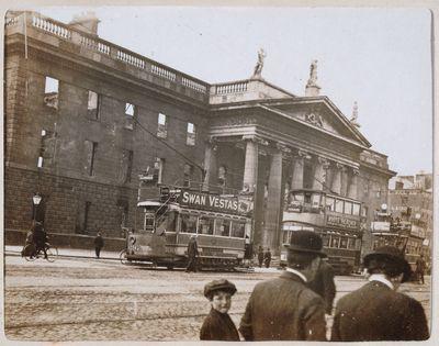 General Post Office, flag staff at corner, May 17 [1916]. - Digital Repository of Ireland